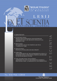 LESIJ XXI vol 1 2014