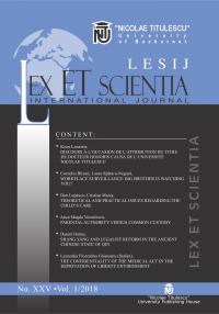 LESIJ XXV vol 1 2018