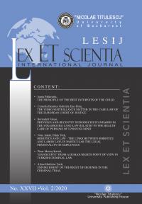 LESIJ XXVII vol 2 2020