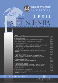 LESIJ XXVIII vol 1 2021 - Coperta - fmargini